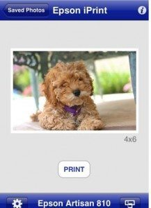 Epson iPrint Photo iPhone App