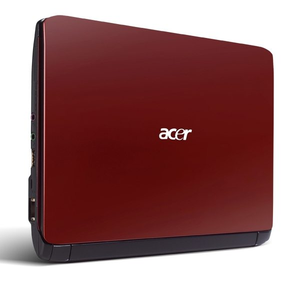 Aspire One 532h red cover standing