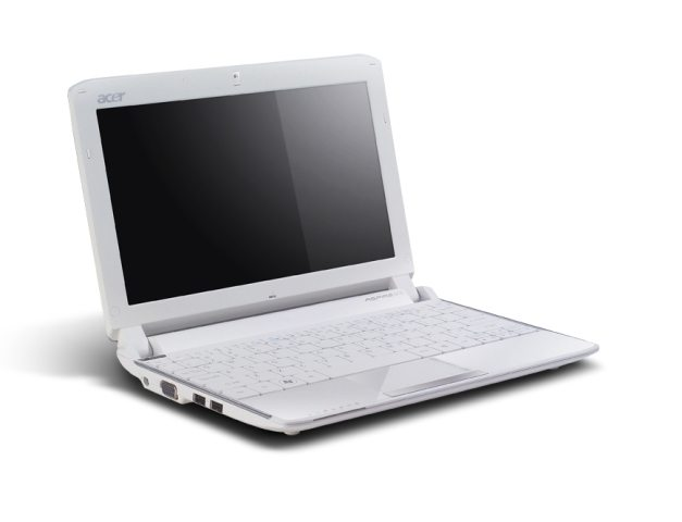 Aspire One 532h silver open left