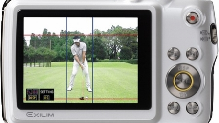 Casio Exilim EX-FS10S Golf Swing Analyzing Digital Smart Camera