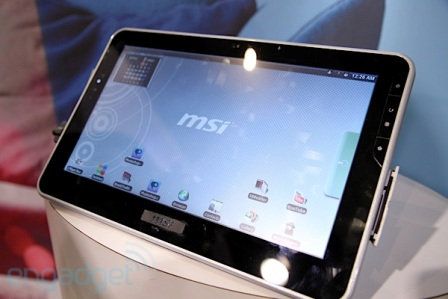 MSIs 10 Inch NVIDIA Tegra Tablet 2