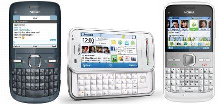 Nokia's new C3, C6 and E5