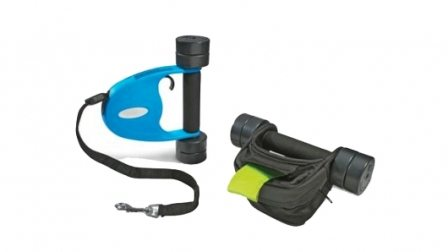 Hammacher's Dog Walker Dumbbell Set Works Out Pup and YOU