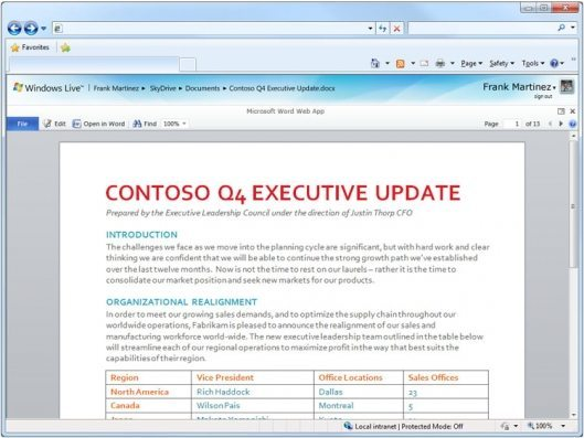 Microsoft Office 2010 is Cloud-Savvy 5
