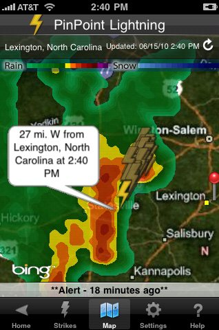 New PinPoint Lightning iPhone App with Geo-Located Lightning Alerts 2
