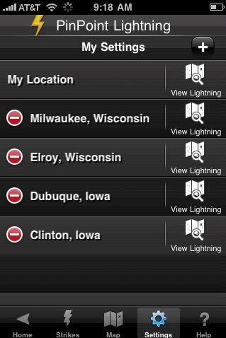 New PinPoint Lightning iPhone App with Geo-Located Lightning Alerts 3