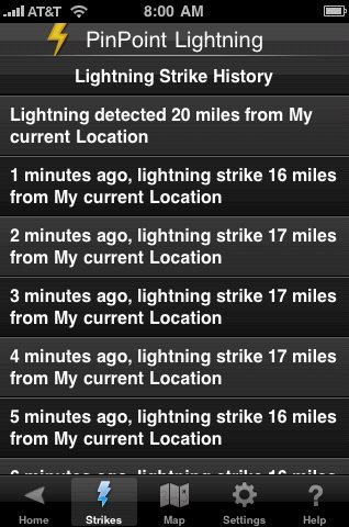 New PinPoint Lightning iPhone App with Geo-Located Lightning Alerts 4