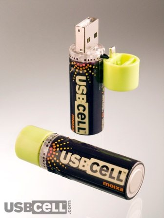 USBCELL -AA Rechargeable Batteries with a built-in USB 3