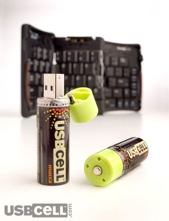 USBCELL -AA Rechargeable Batteries with a built-in USB