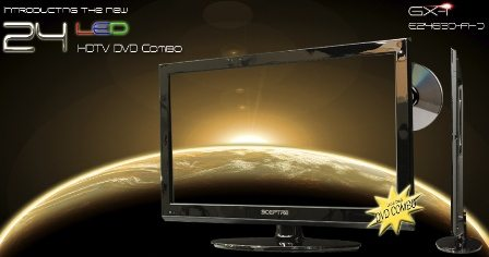 Sceptre 19 and 24-inch Widescreen GX-I LED HDTVs with Ultra-Thin Embedded DVD Players 2