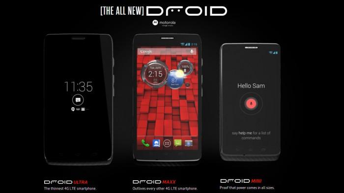 Verizon Motorola's Droid Ultra, Mini and Maxx