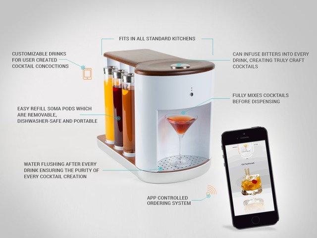 Somabar uses app to mix drinks