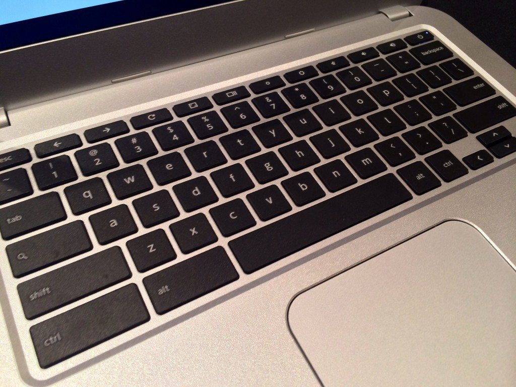 Toshiba Chromebook 2 has spacious keyboard