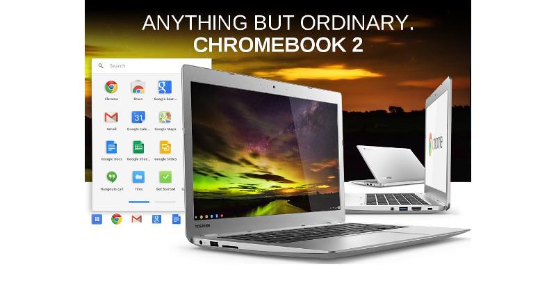 Toshiba Chromebook 2 uses Google Drive