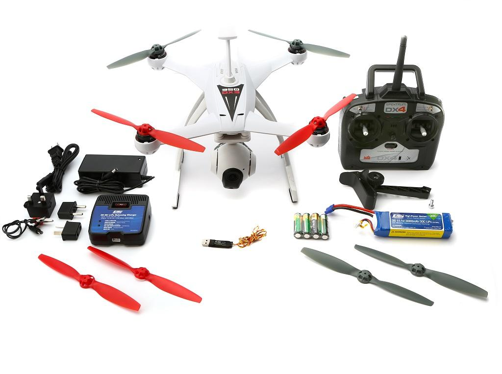 Blade 350 QX AP Combo RTF Drone has a 2-axis brushless gimbal with optional pitch control