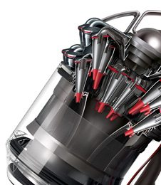 Dyson Cinetic Science Vacuums use flexible hoses