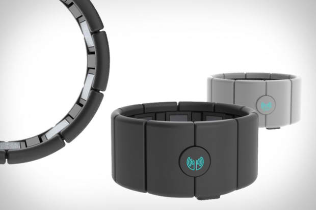Myo Muscle-Sensing Armband detects rotating and squeezing