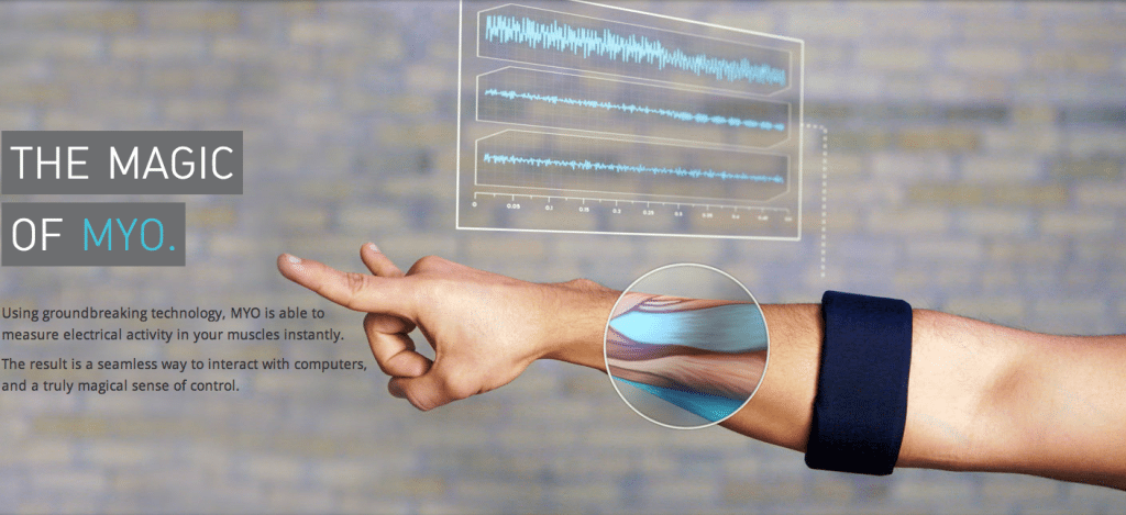 Myo Muscle-Sensing Armband has Myo connect app