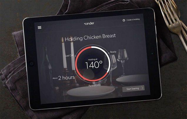 Cinder Sensing Cooker has an app