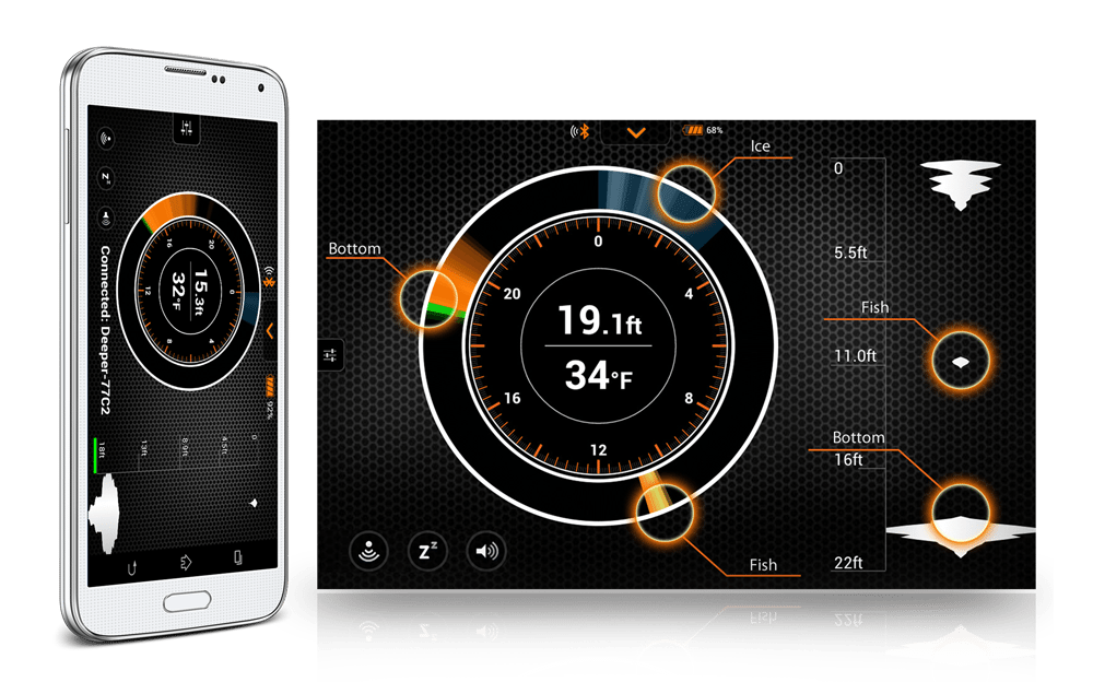 Deeper Smart Fishfinder is very portable