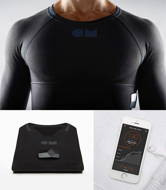 OMSignal Biometric Shirt connects to iPhone