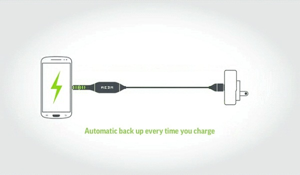 MEEM Smartphone Cable Backup backups all of your critical data