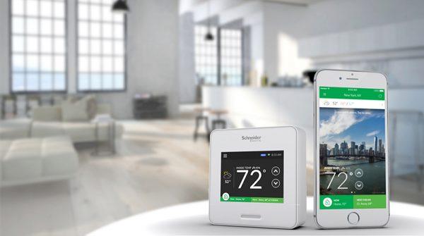 Schneider Electric Wiser Air Smart Thermostat has an app
