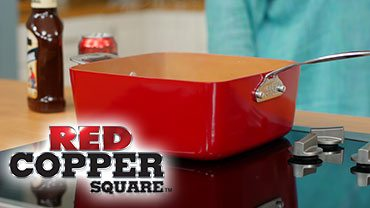 Telebrands Red Copper square pan is available