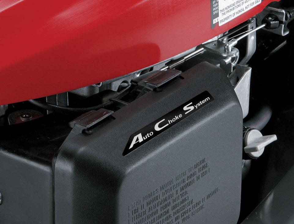 Honda HRX217HZA lawn mower has auto-choke system