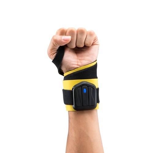 PiQ Everlast Boxing Sensor System fits under boxing glove