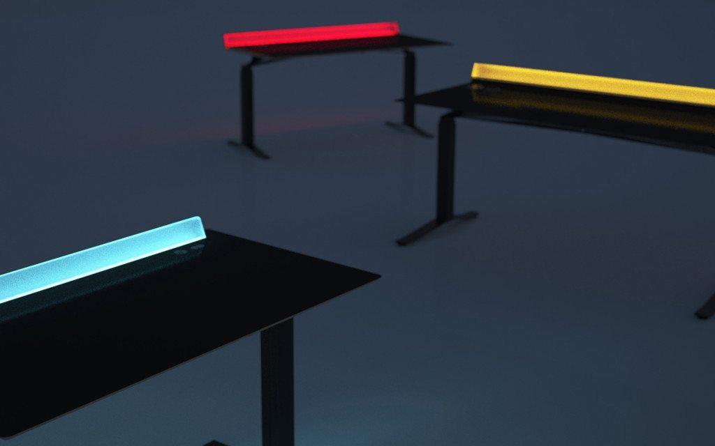 Aerodesk as an LED light bar