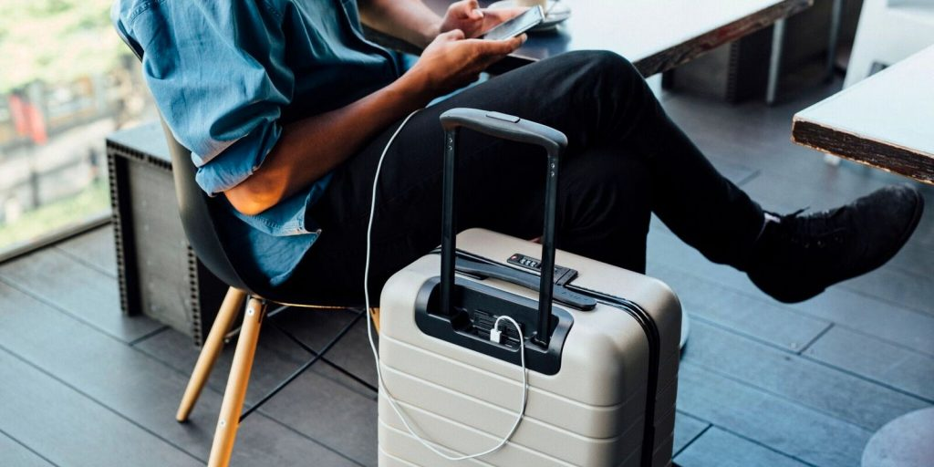 Away Travel Carry-On has 2 USB ports