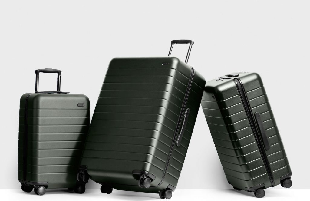 Away Travel Luggage Line comes in 4 sizes