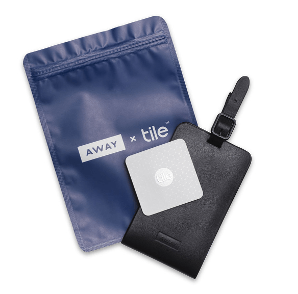 Away X Tile is a locator for your Away Travel Luggage