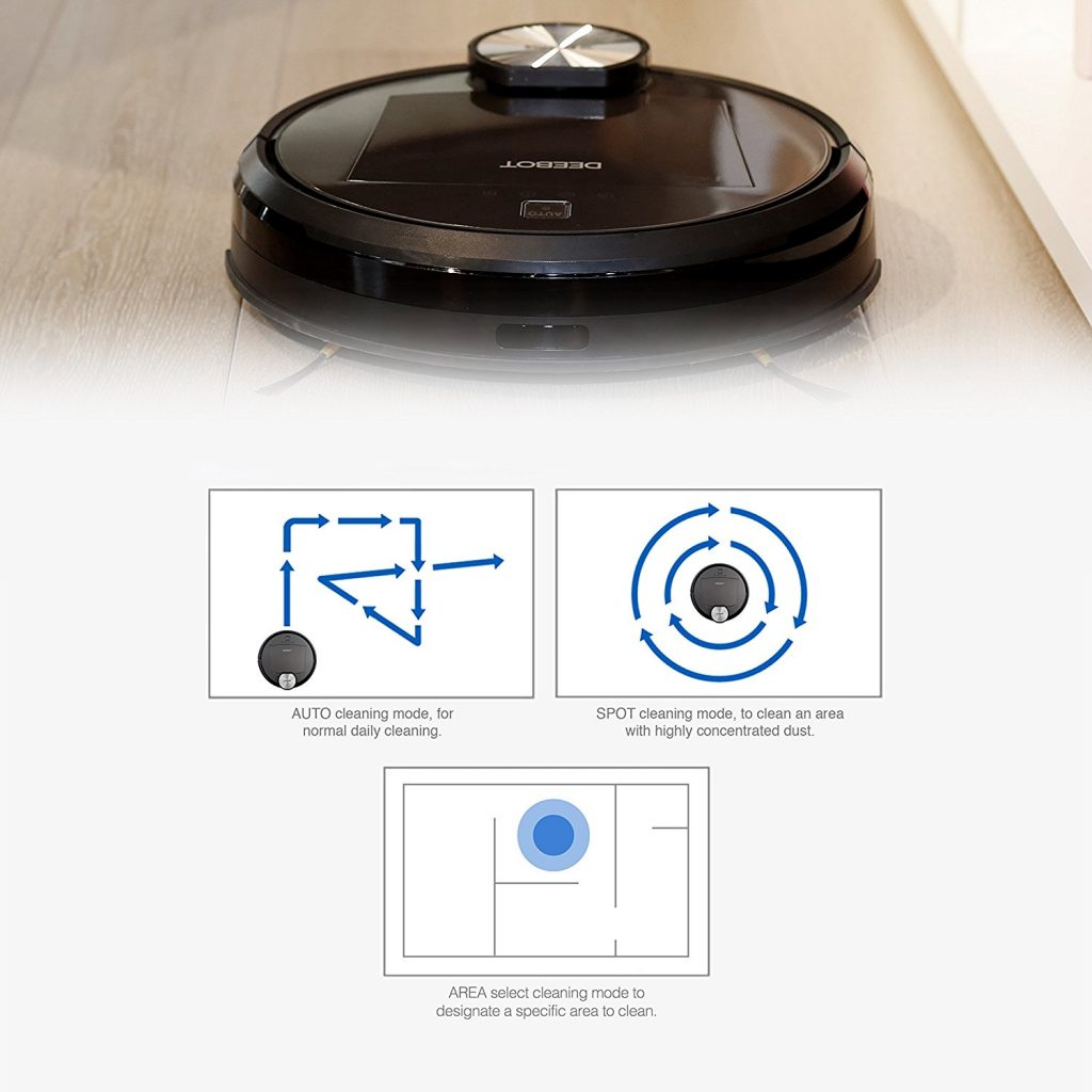 ECOVACS DEEBOT R95 works great on carpet and hard floors