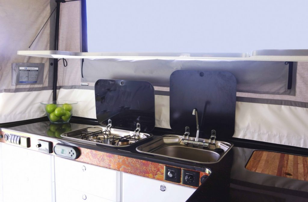 Ultimate Nexus Camper has a kitchen