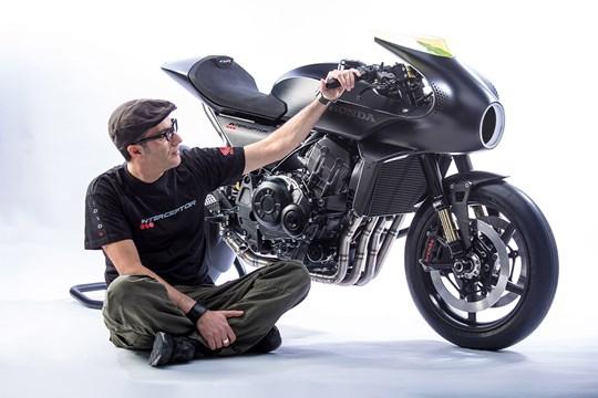 Honda CB4 Interceptor Concept uses wind to power display
