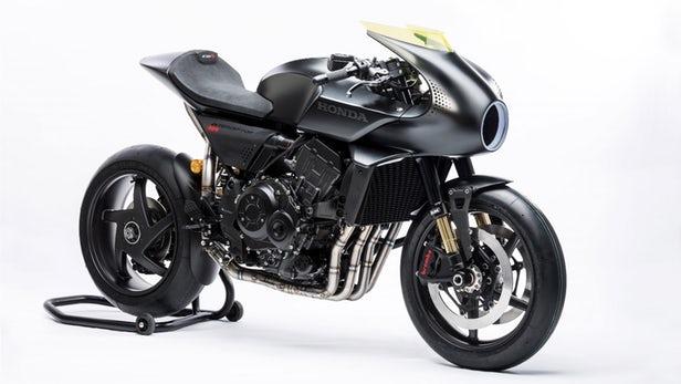 Honda CB4 Interceptor Concept is total black