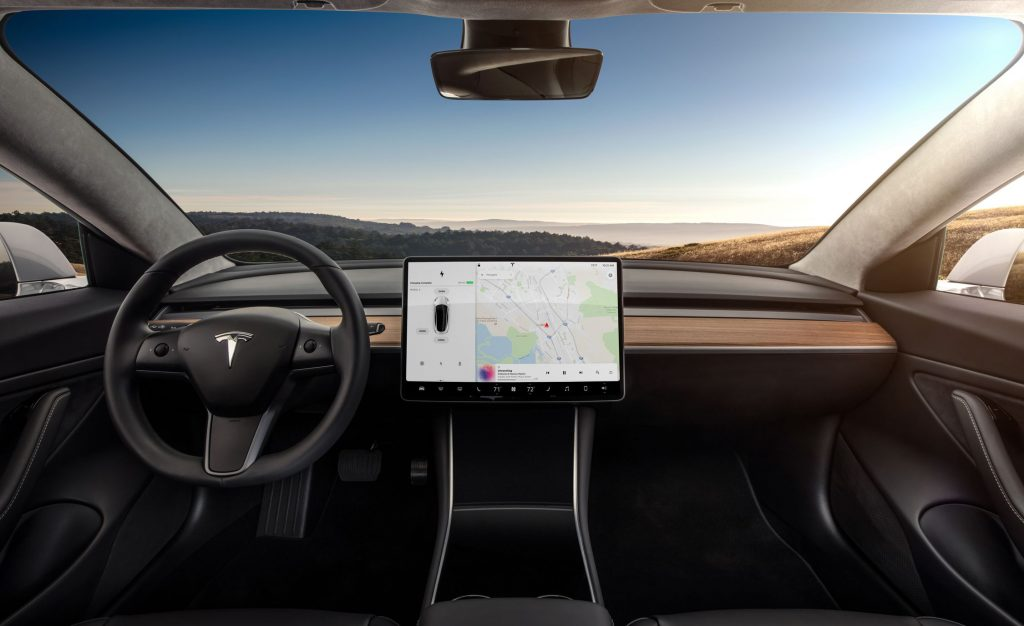 Tesla Model 3 has a lot of tech