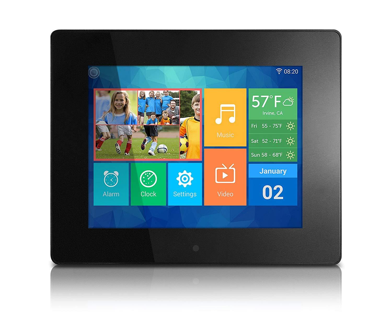 "Aluratek AWDMPF208F 8"" IPS LCD Digital Photo Frame with Wi-Fi"