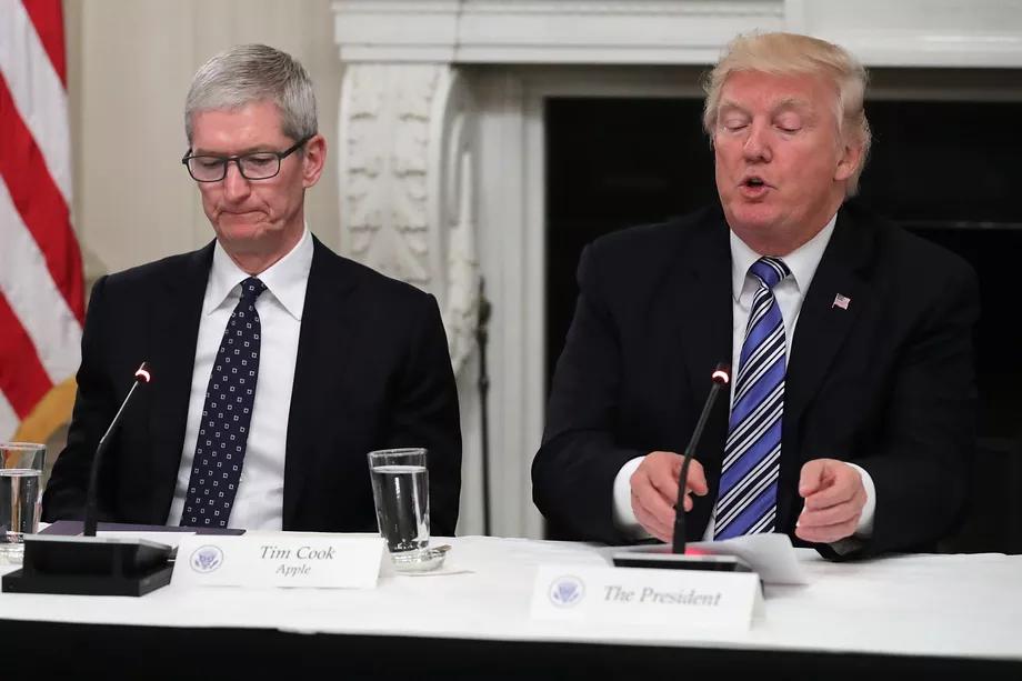 Tim Cook and Trump Talk Tariffs
