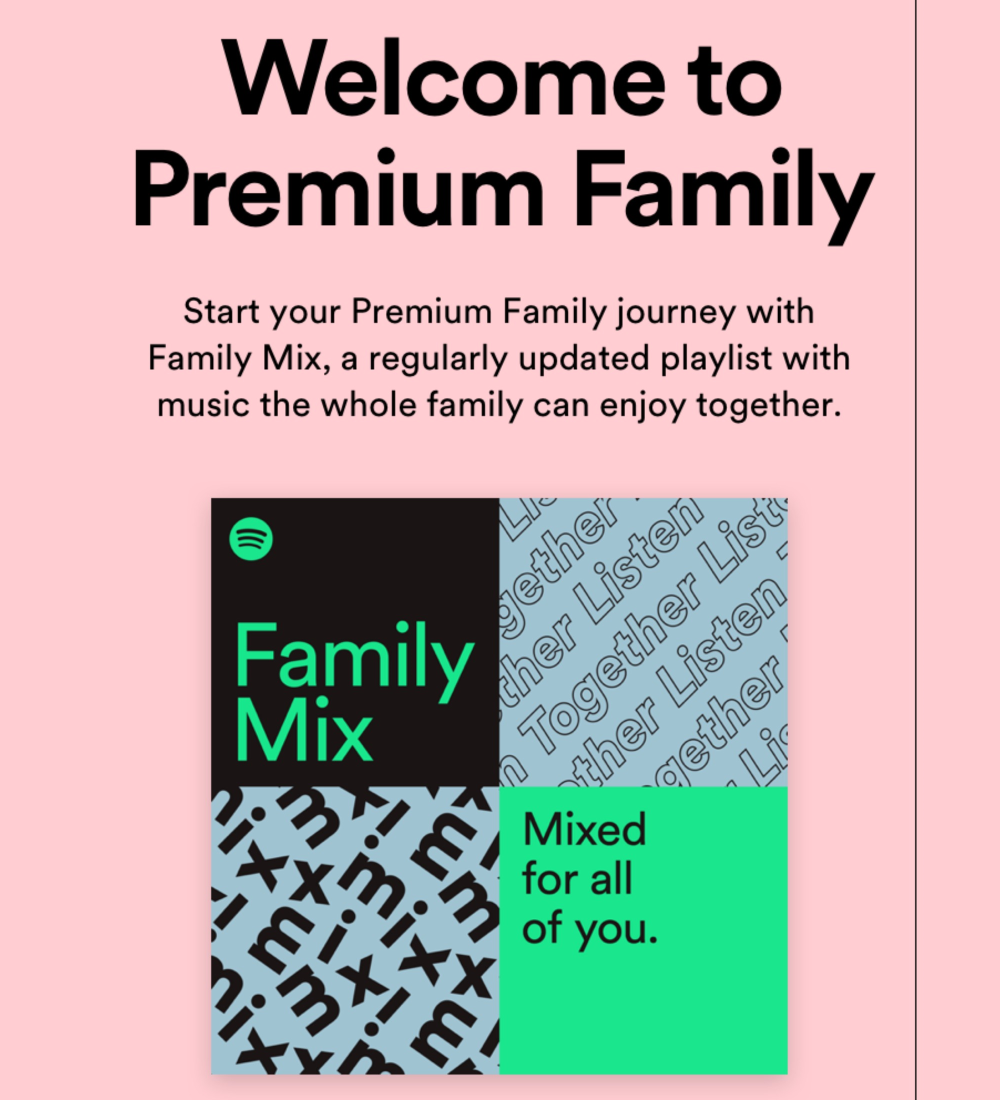 Spotify Premium Family Plans