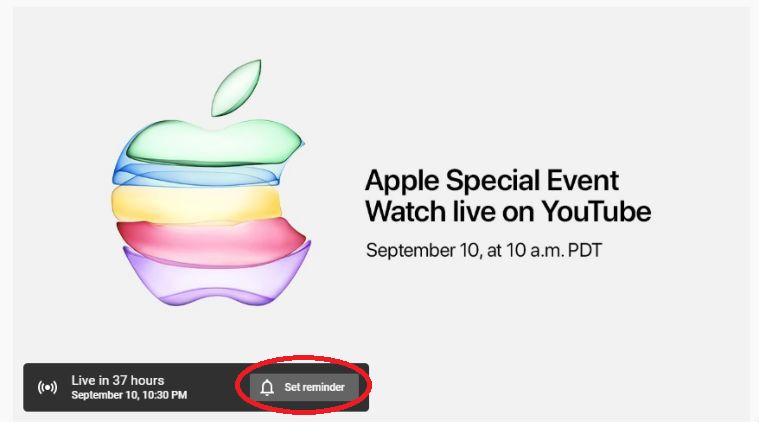 Apple September 10 Event LiveStream