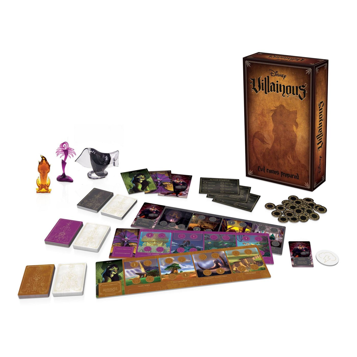 Disney Villainous: Evil Comes Prepared Box Contents