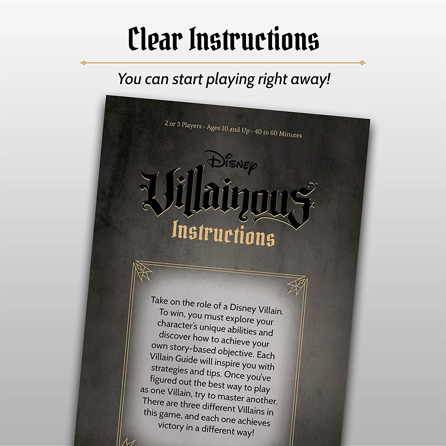 Disney Villainous: Evil Comes Prepared Instructions Manual