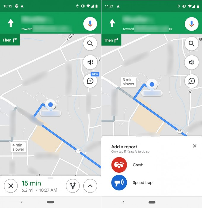 Google Maps iOS Report Traffic Incidents