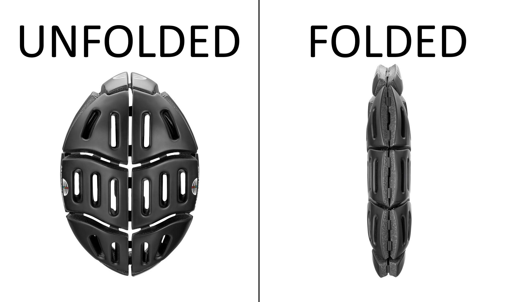 Morpher Helmet Unfolded and Folded