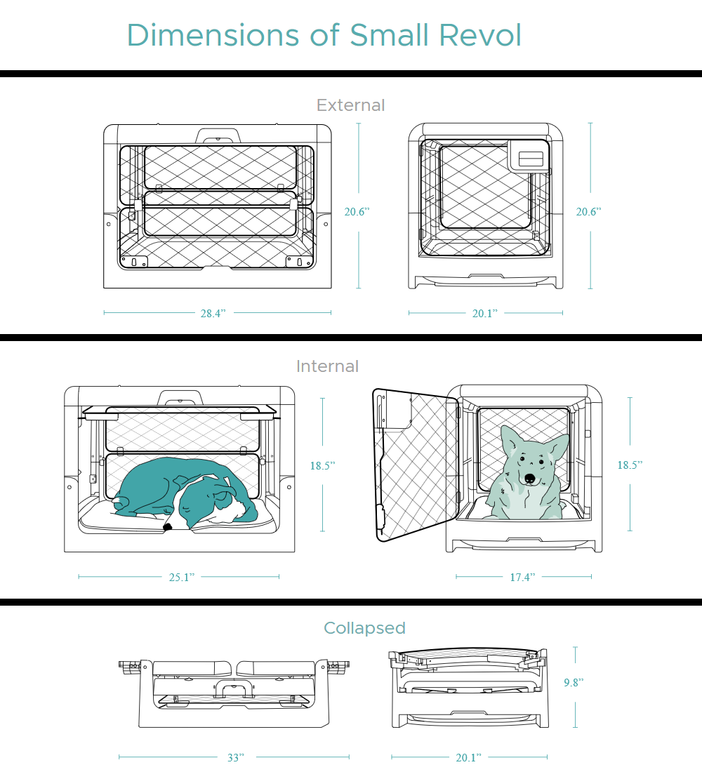 Revol Dog Crate - Small Measurements