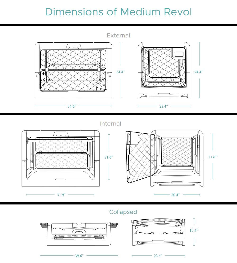 Revol Dog Crate - Medium Measurements