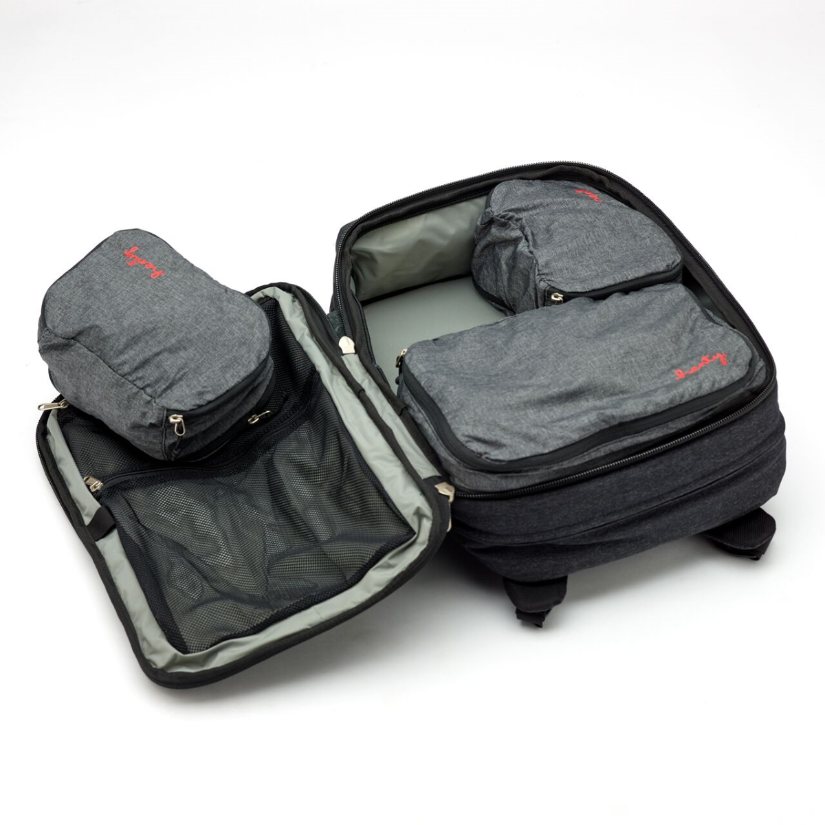 Henty Travel Brief Backpack Three Packing Cubes (1)